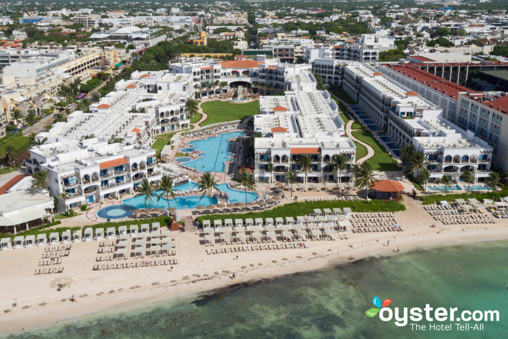 Aerial View of Hilton Playa del Carmen, an All-Inclusive Adult Only Resort