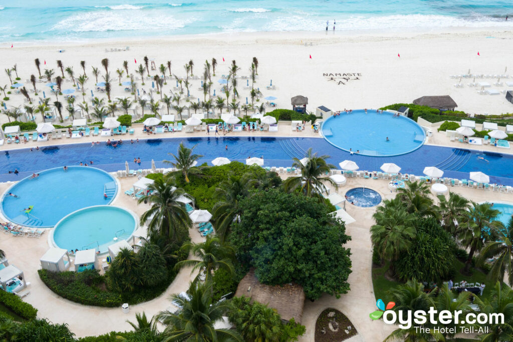 Aerial View of Live Beach Resort Cancun