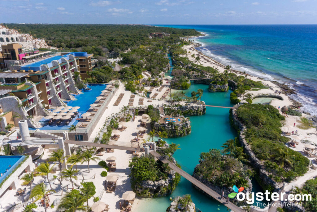 Aerial View of Hotel Xcaret in Mexico, an All inclusive Resort