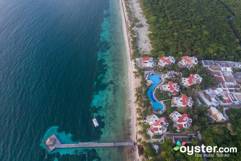 Aerial View of Desire Riviera Maya Pearl Resort
