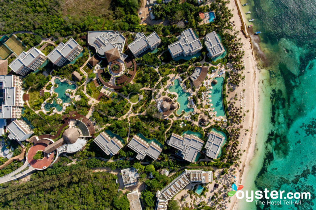 Aerial View of Secrets Akumal Riviera Maya