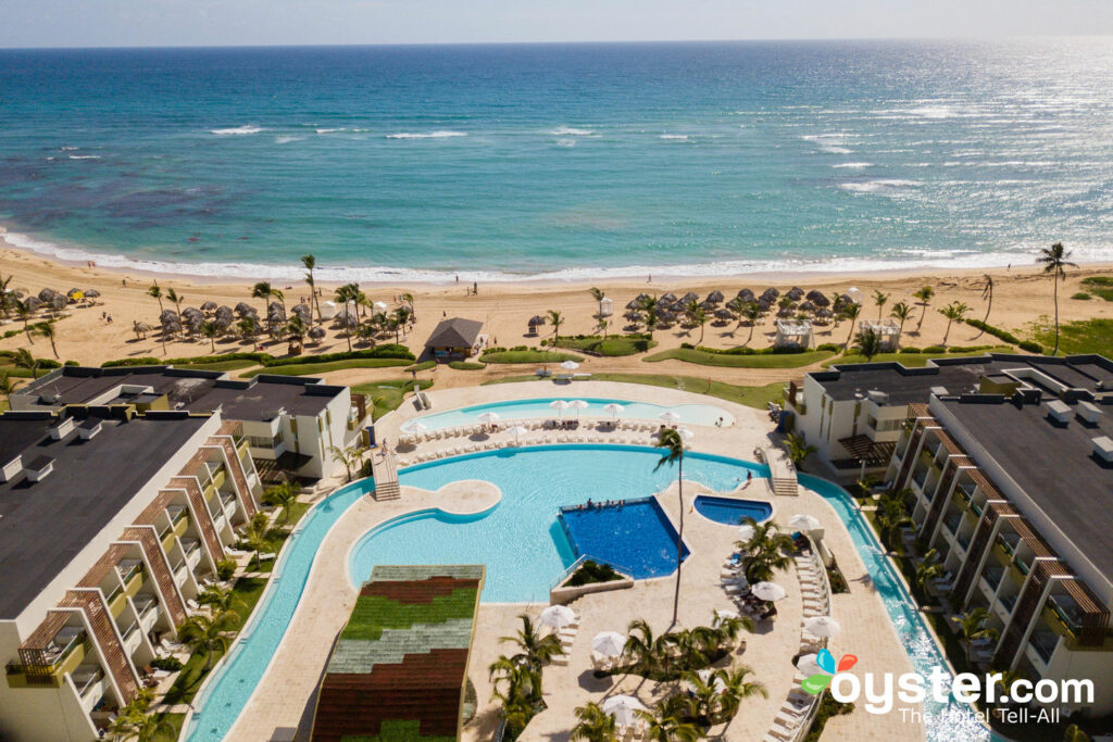 Aerial View of Now Onyx Punta Cana All Inclusive Resort