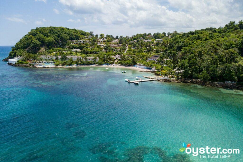 Vue aérienne du Round Hill Hotel & Villas, à Montego Bay