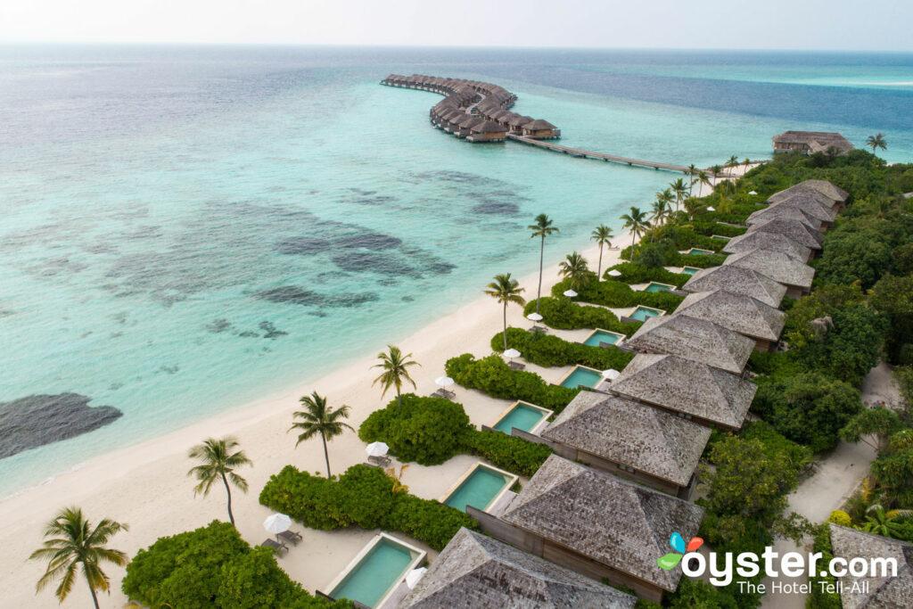 Vista aérea de Hurawalhi Island Resort