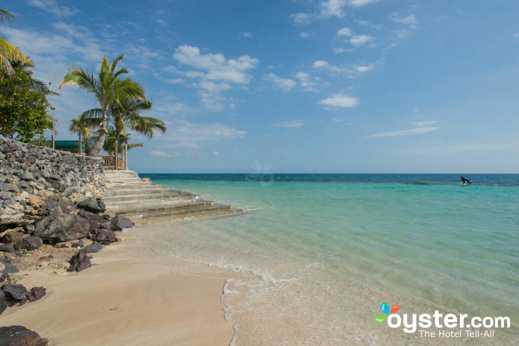 Praia, em, ilha náufrago, fiji