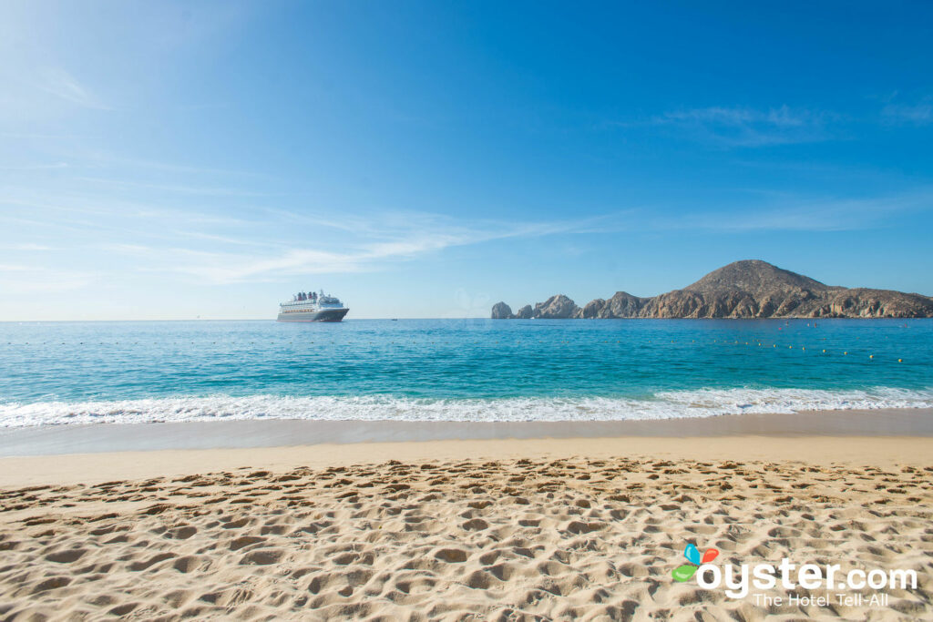 Lover's Beach sits on Land's End, which can be seen from Playa Medano in Cabo San Lucas