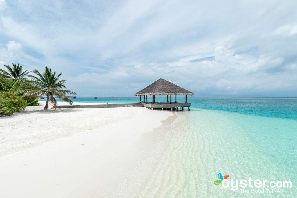 Beach at Huvafen Fushi Maldives