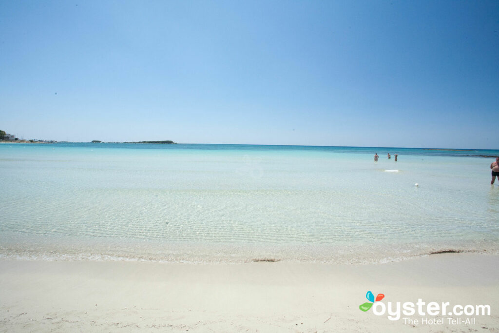 Beach at Hotel Blu, Porto Cesareo