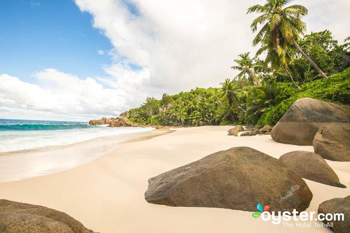Playa en Banyan Tree Seychelles