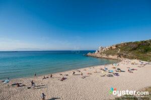 Beach at Grand Hotel Corallaro, Sardinia