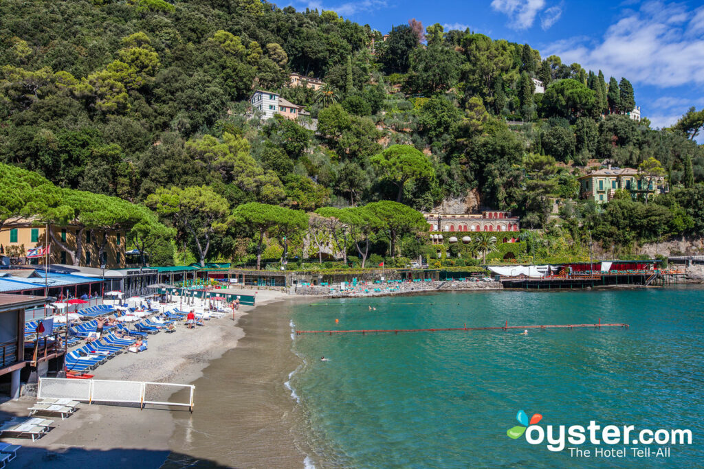 Beach at Eight Hotel Paraggi, Santa Margherita Ligure
