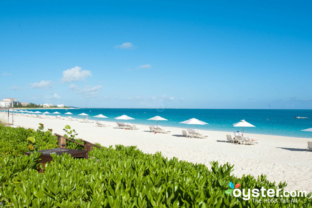 Praia no Grace Bay Club, Providenciales