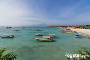 View of Mount Agung from Oka7 Bungalow; Oyster