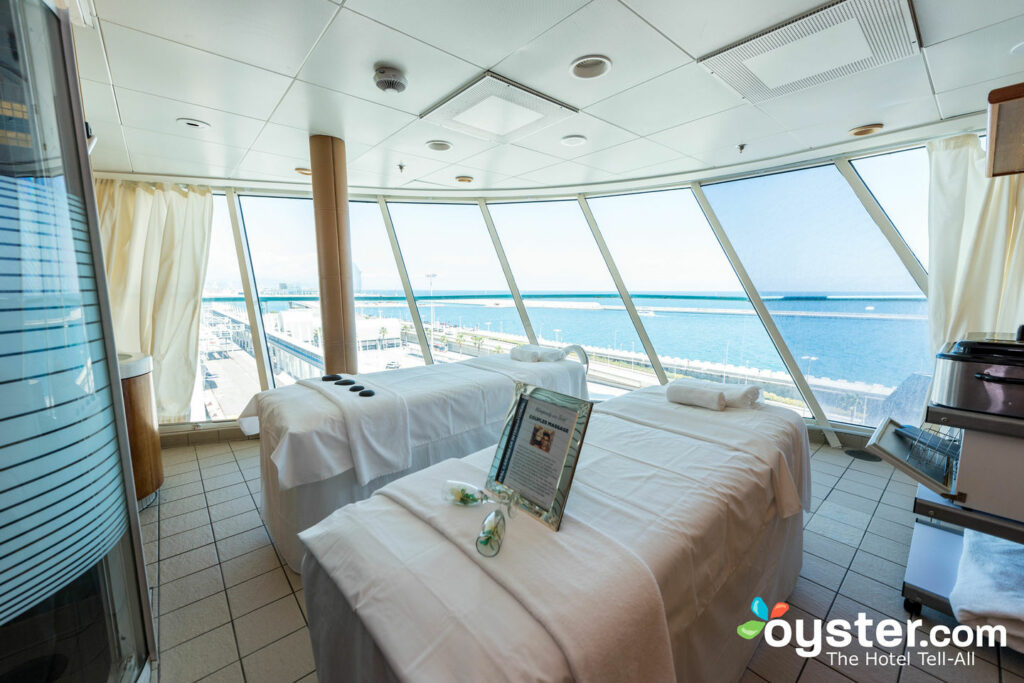Massagem de casais no Rhapsody of the Seas, Royal Caribbean
