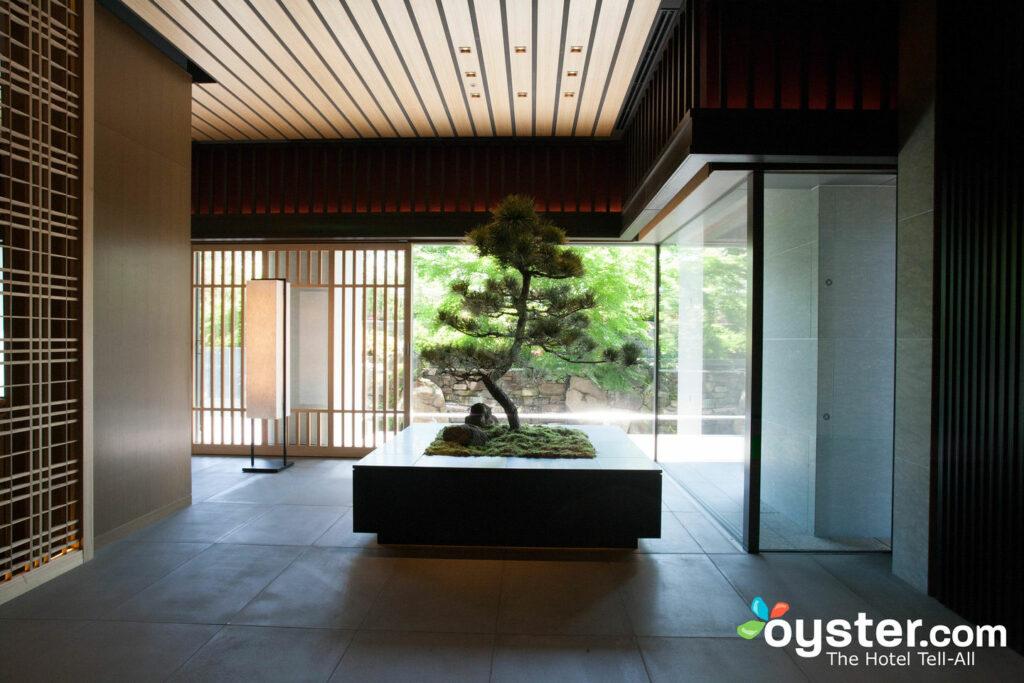 Entrada en el Ritz-Carlton Kyoto