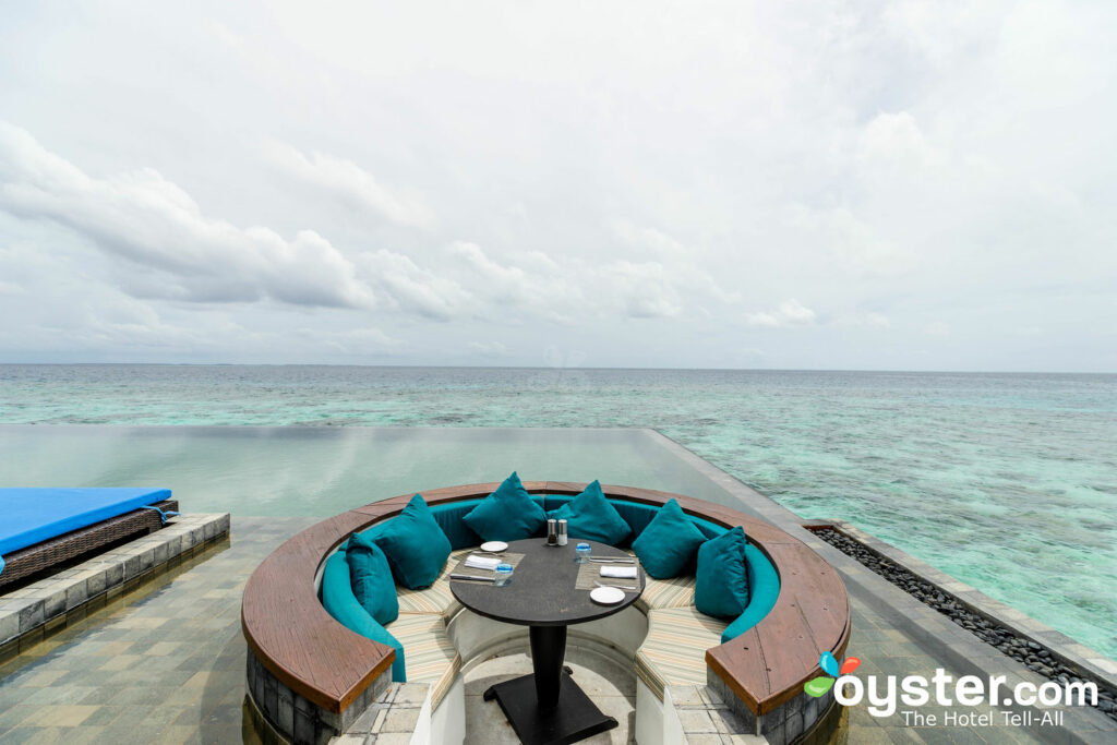 Infinite Water Villa Pool at Raffles Maldives Meradhoo