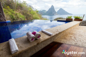 Infinity Pool Sanctuary at Jade Mountain Resort