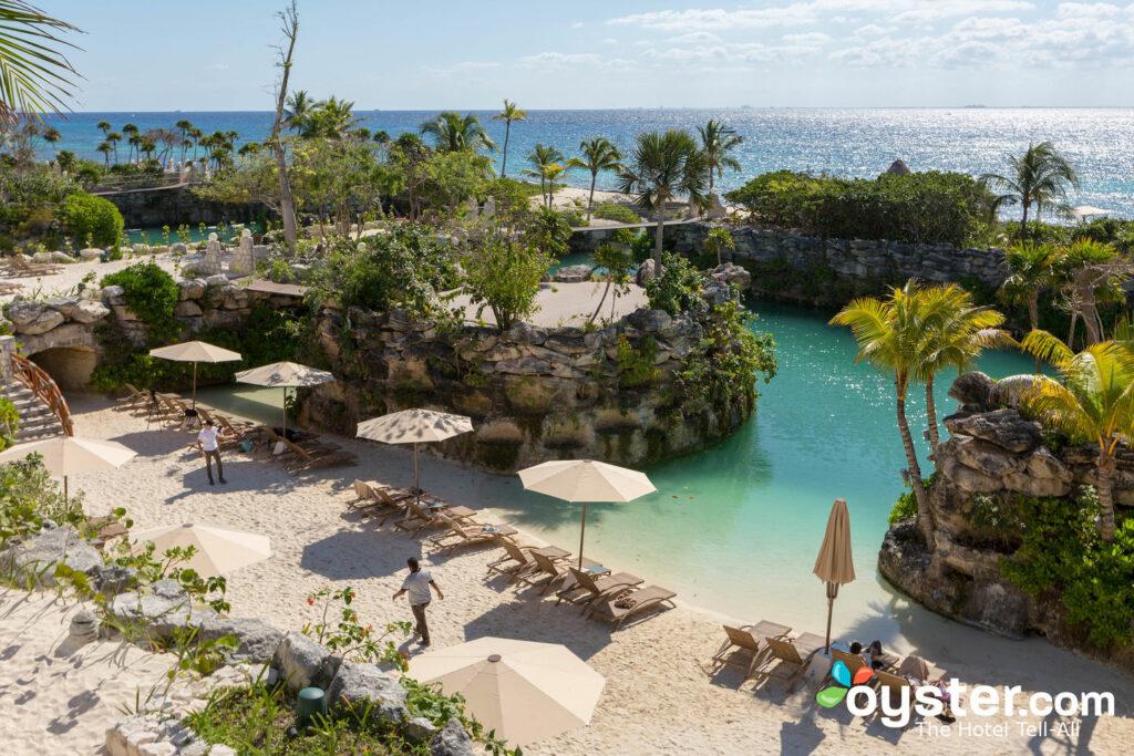Playa de la laguna en el hotel xcaret mexico