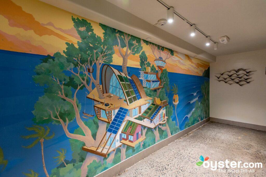 Lobby at The Surfjack Hotel & Swim Club, Oahu