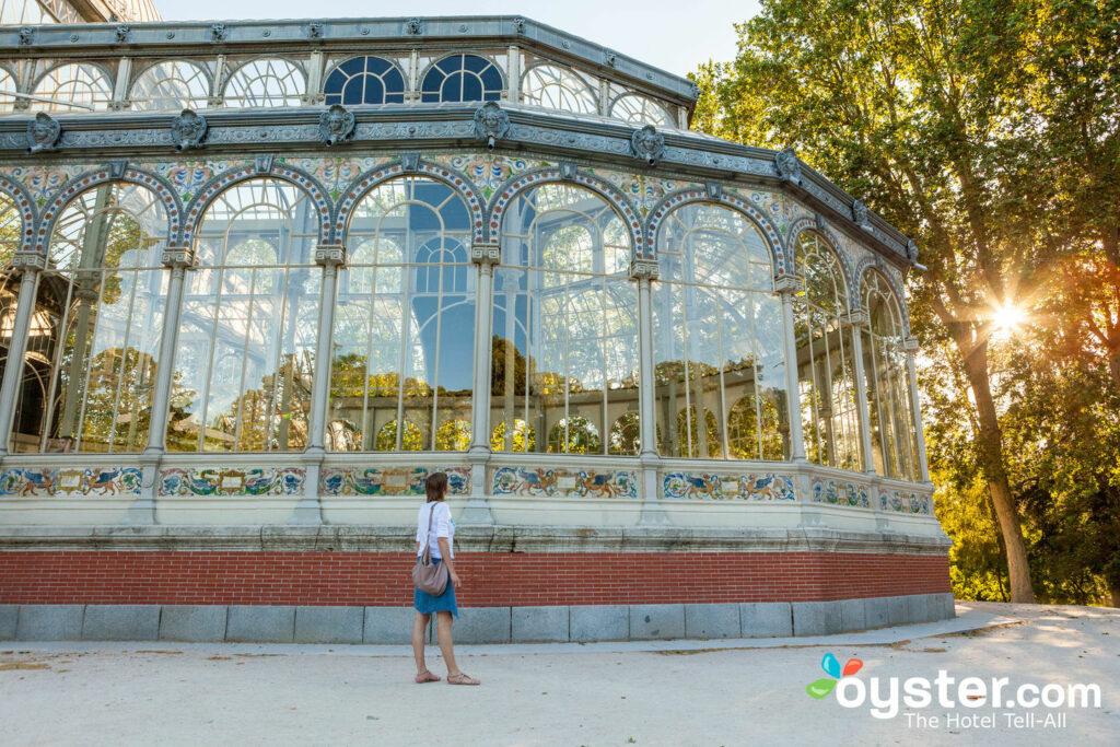 Palacio de cristal en el parque del retiro, madrid