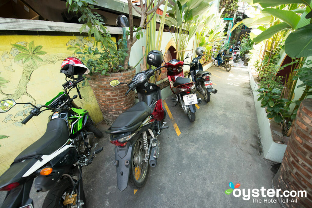 Motorbikes at Awanahouse in Chiang Mai/Oyster