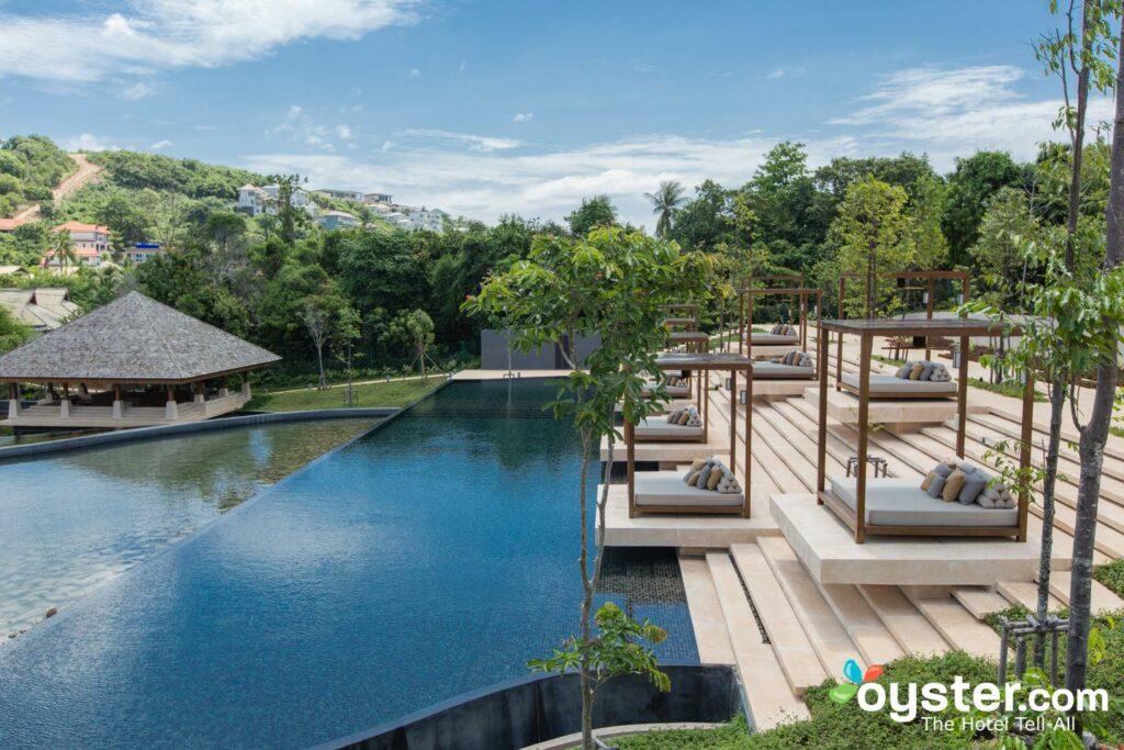 Piscina de spa en el Ritz-Carlton, Koh Samui