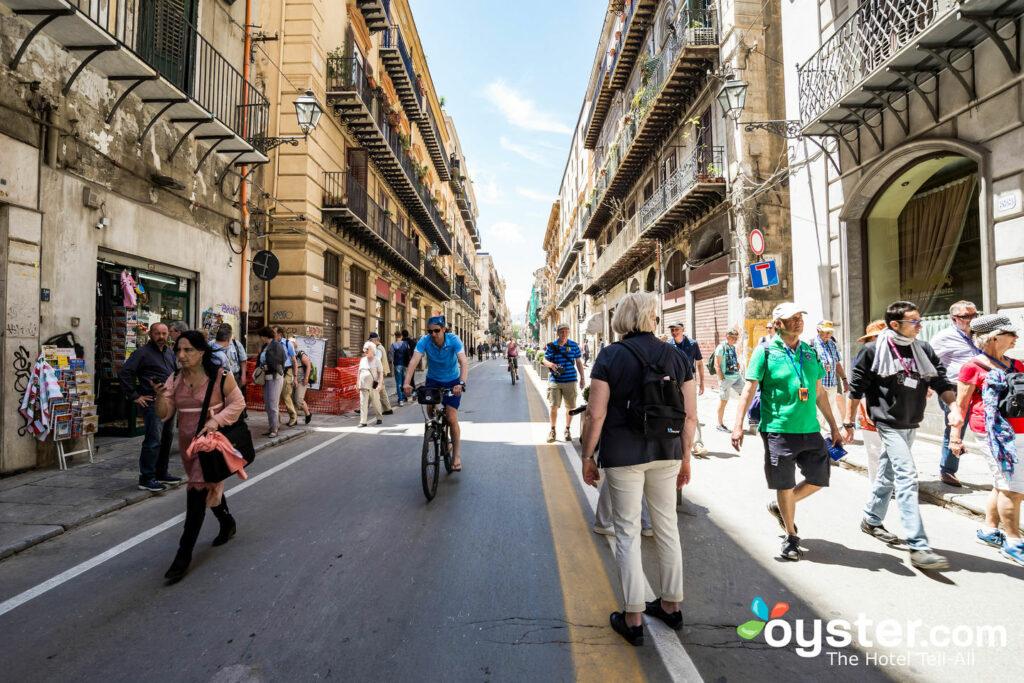 Street at Hotel Regina, Palermo
