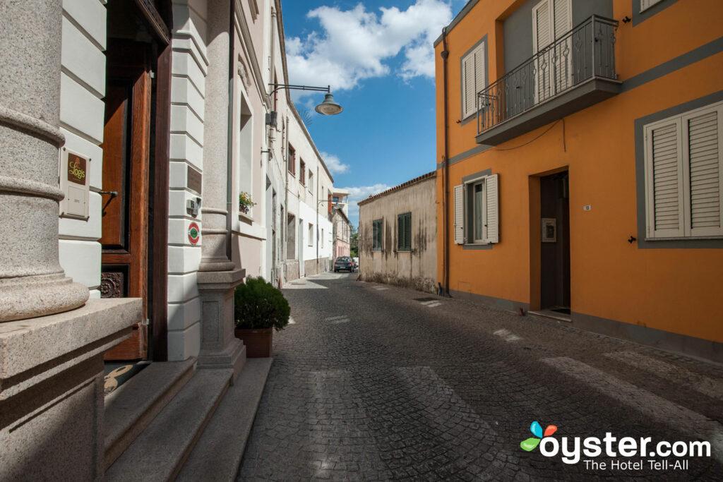 Straße in La Locanda del Conte Mameli in Sardinien