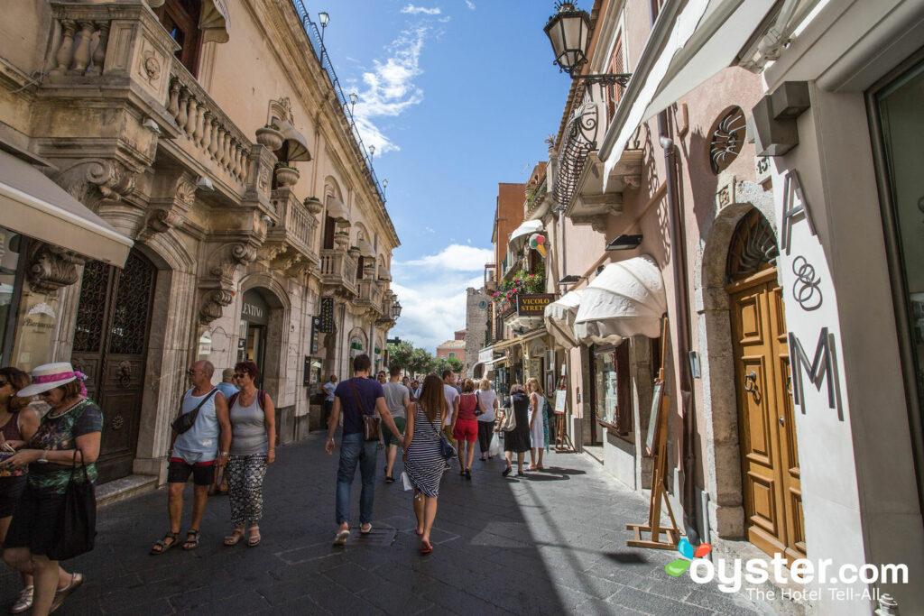 Calle en el Hotel Villa Schuler, Taormina