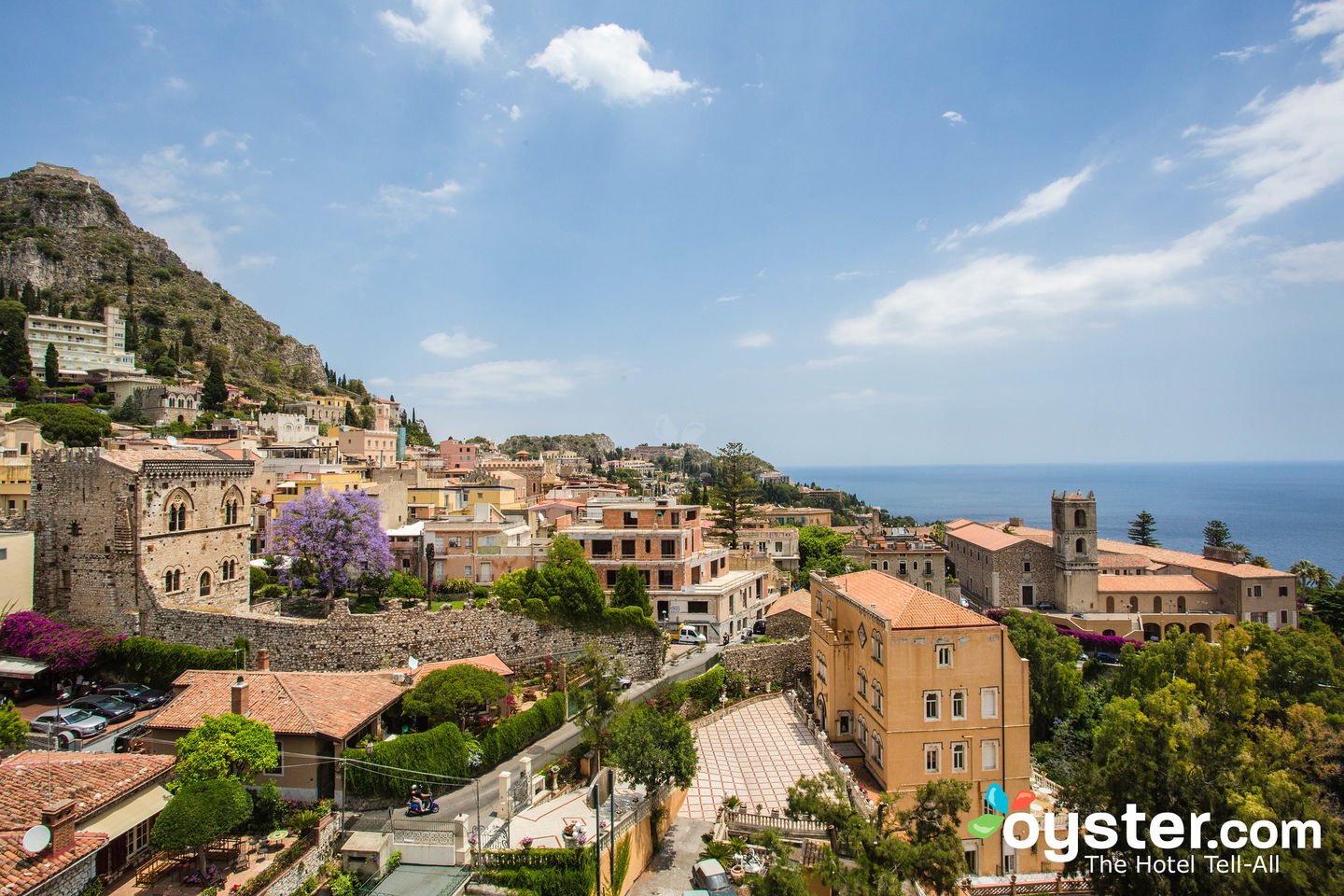 View From Excelsior Palace Hotel in Taormina