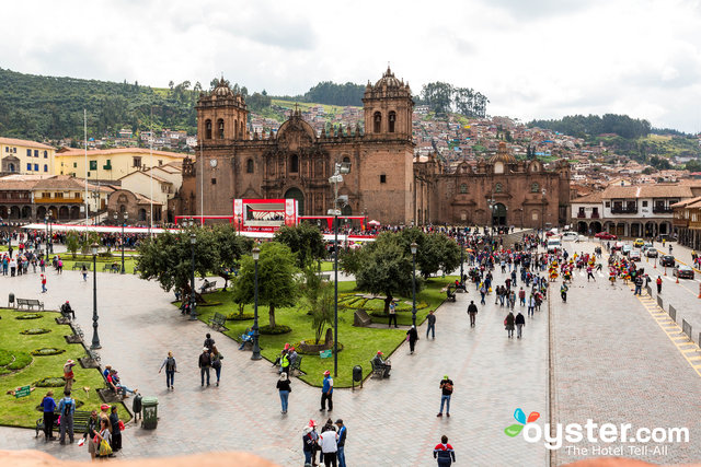Vista dall'hotel Plaza de Armas Cusco, in Perù