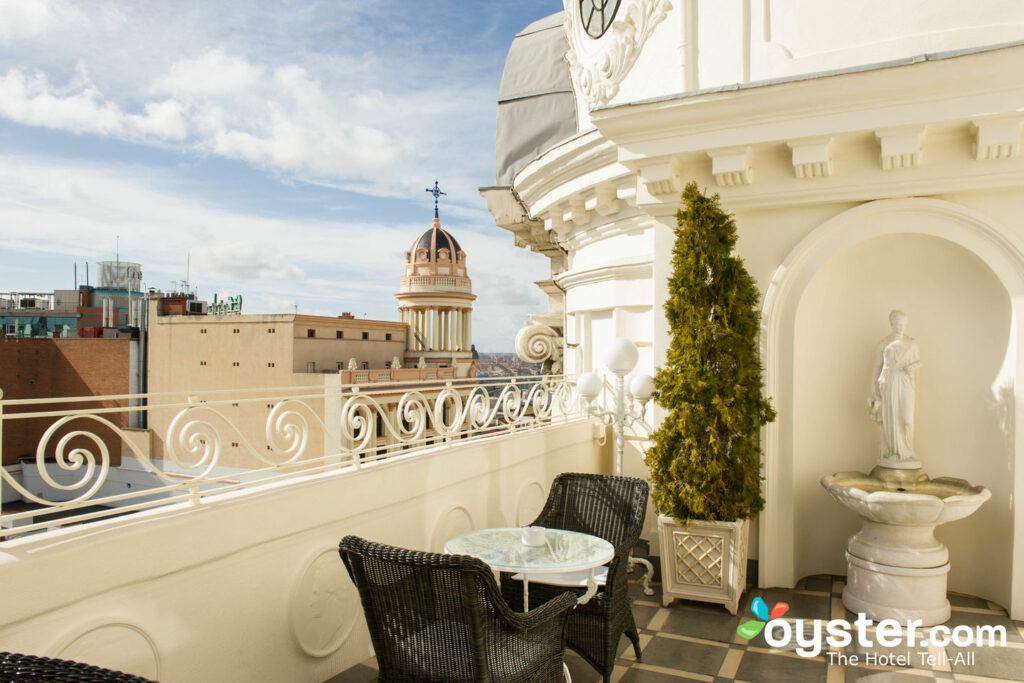 Terrazze all'Hotel Atlantico, Madrid