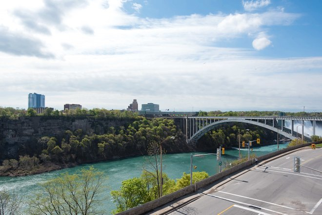 The view from the Family Suite at the Travelodge Hotel Niagara Falls Fallsview