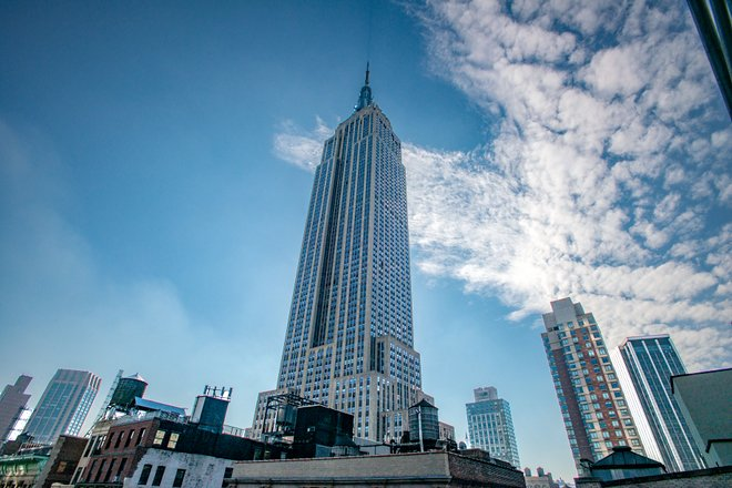 View of the Empire State Building at the Hotel Metro/Oyster