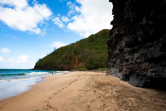 Praia de Hanakapiai, Na Pali Coast, Kauai, Havaí / Ostra