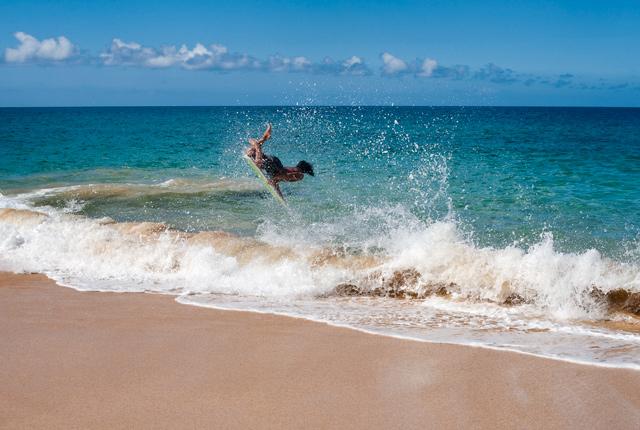 Bodyboarding on Big Beach, Maui, Hawaii/Oyster