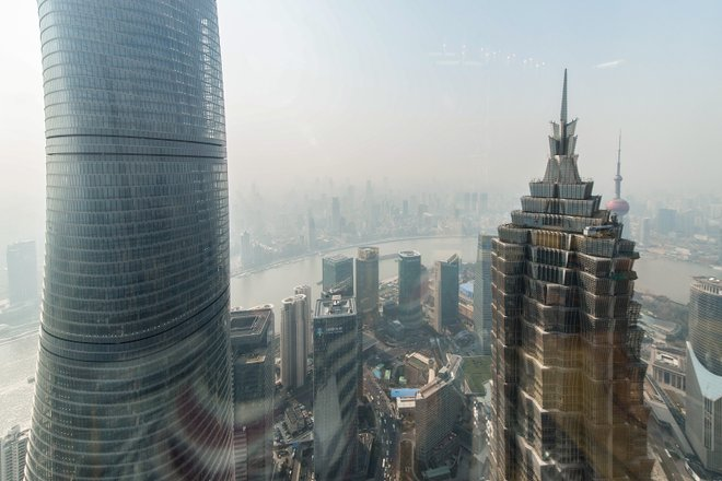 View at from the bar at the Park Hyatt Shanghai/Oyster