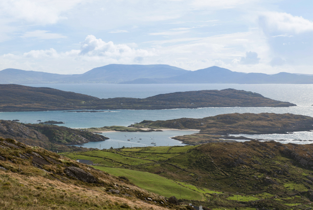 View of Skelligs Rocks and Ballinskelligs Bay, Ring of Kerry/Oyster