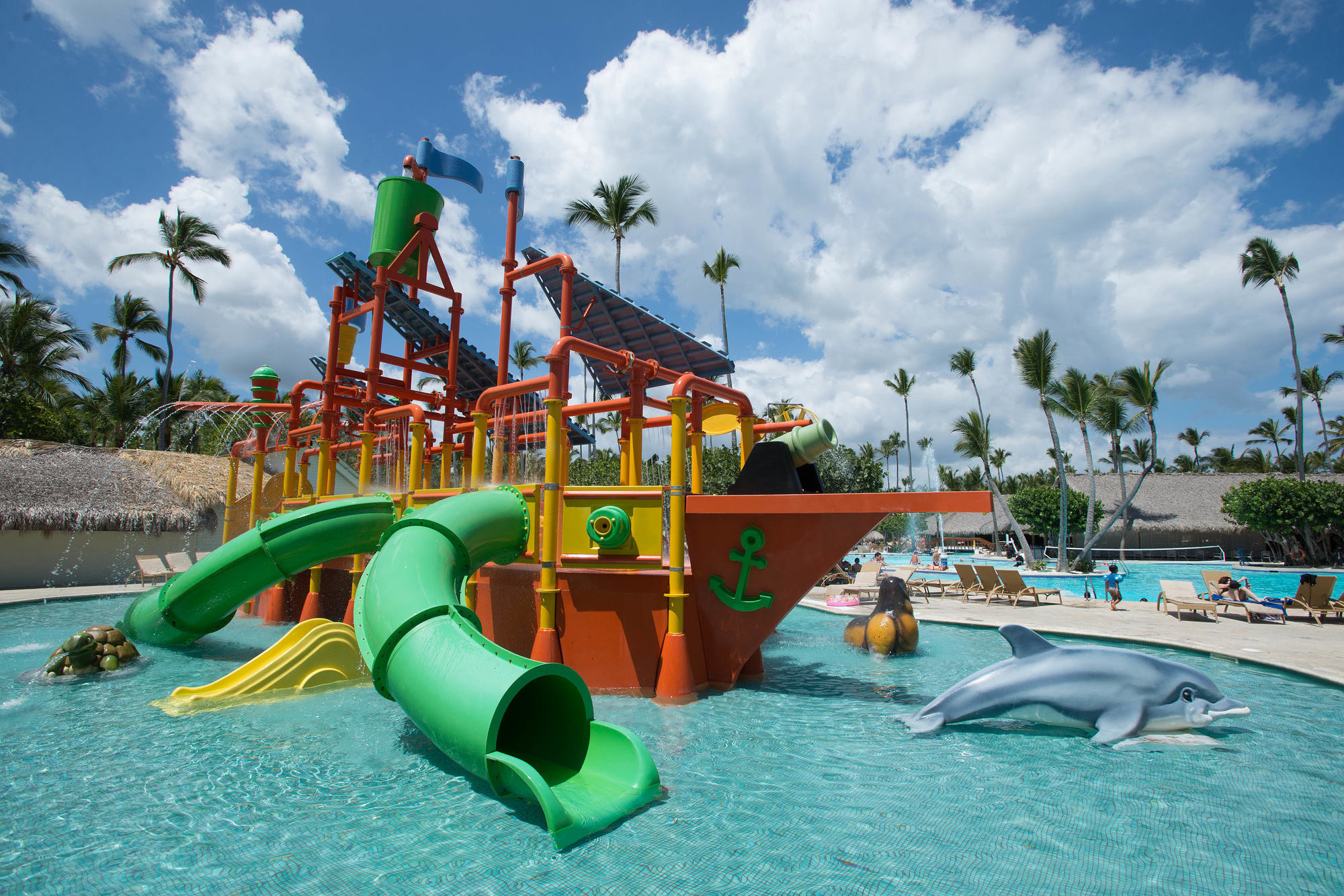Pirate ship-themed water park at Iberostar Selection Bavaro