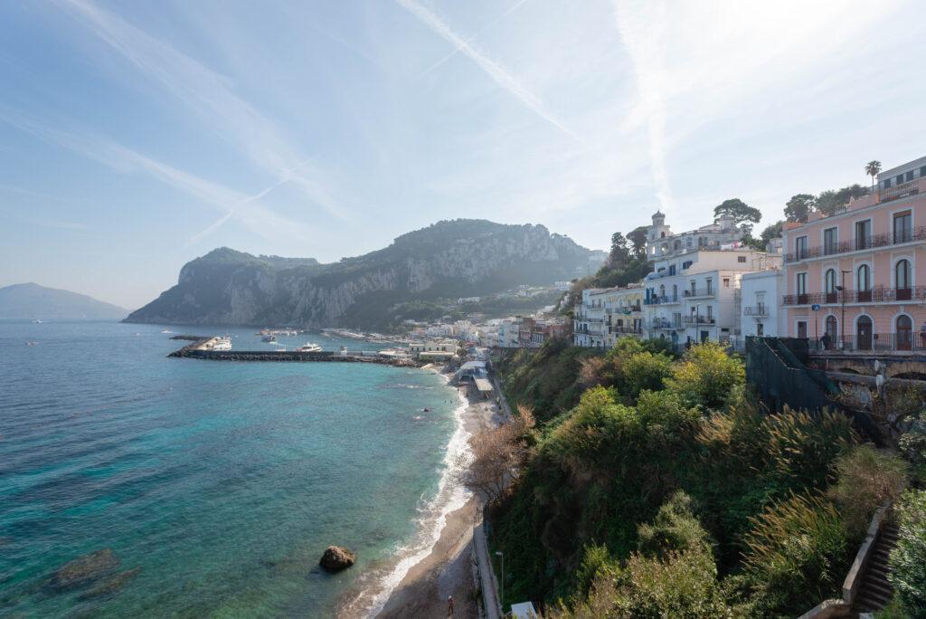 Coastal view of Capri, Italy