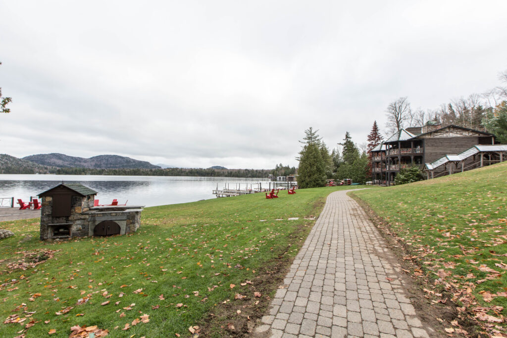 Grounds at Lake Placid Lodge