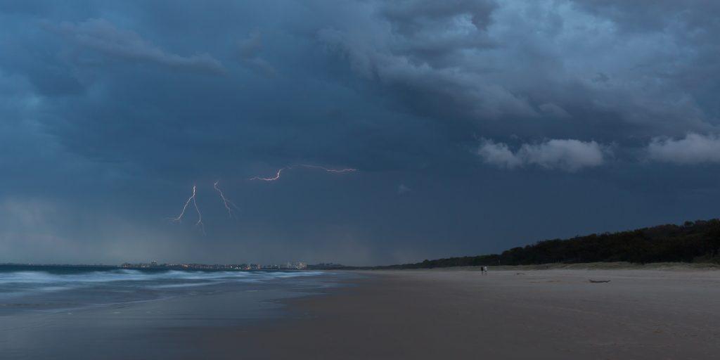Lightning Storm on the Beach
