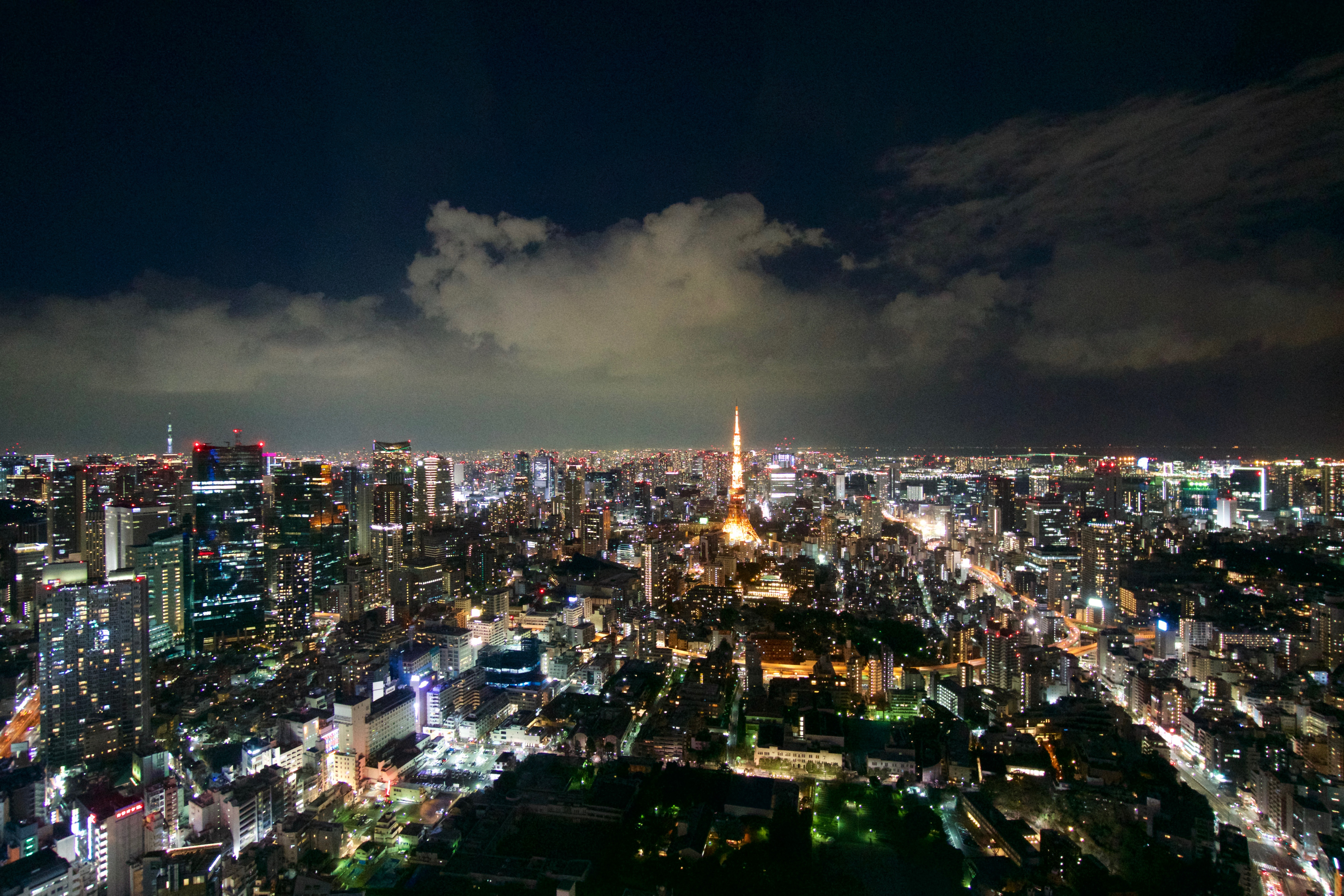 Views of Tokyo's lights at night from the Mori Museum of Art