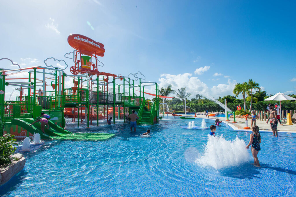 Water park with families at Nickelodeon Hotel and Resort Punta Cana