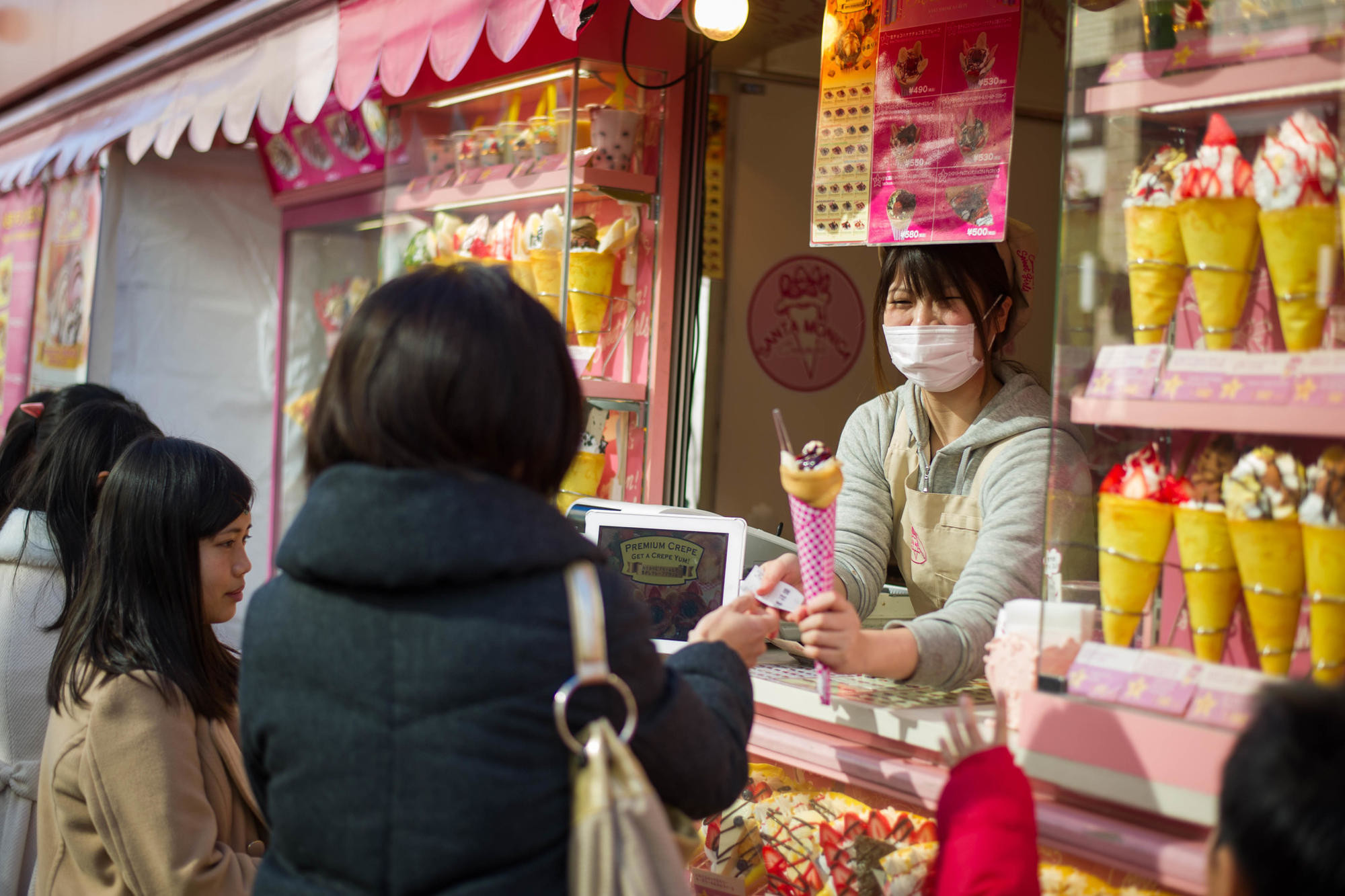 Trendy food is big in Tokyo, especially the sweet crepes of Harajuku