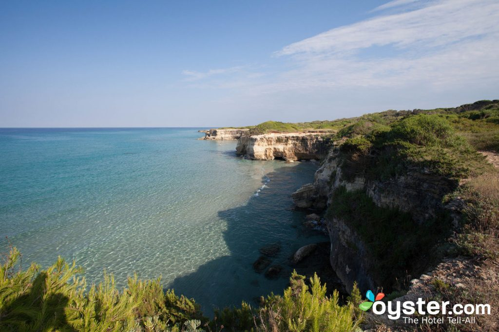 Beach at Hotel Solara in Otranto/Oyster