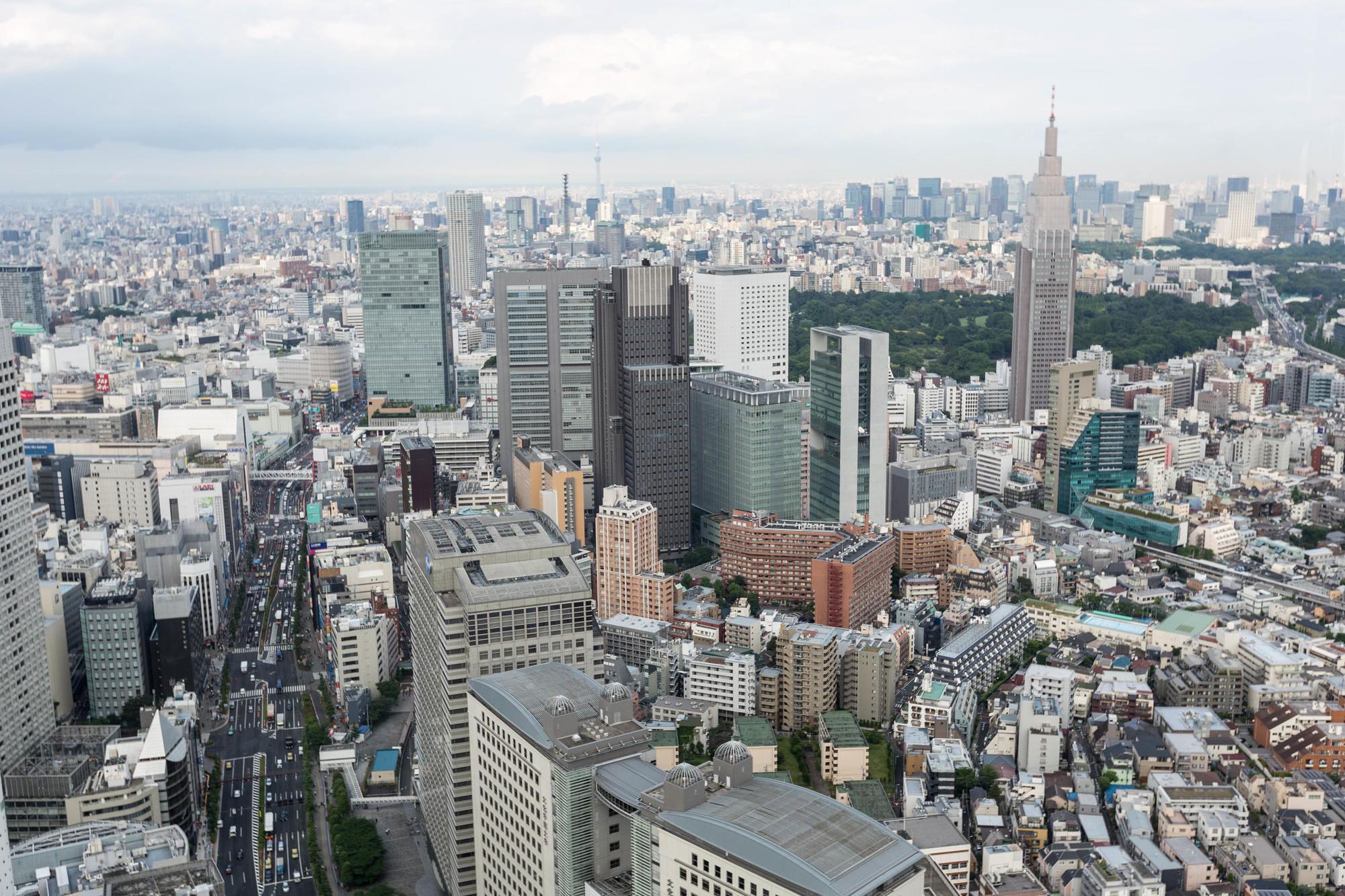 Tokyo's skyline from the Park Hyatt Tokyo