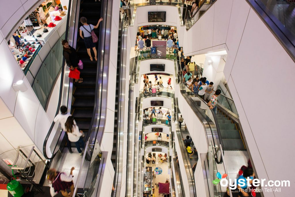 Don't expect to haggle in shopping malls.