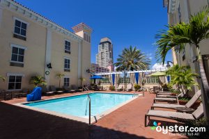 Pool at Hampton Inn and Suites St. Petersburg Downtown/Oyster