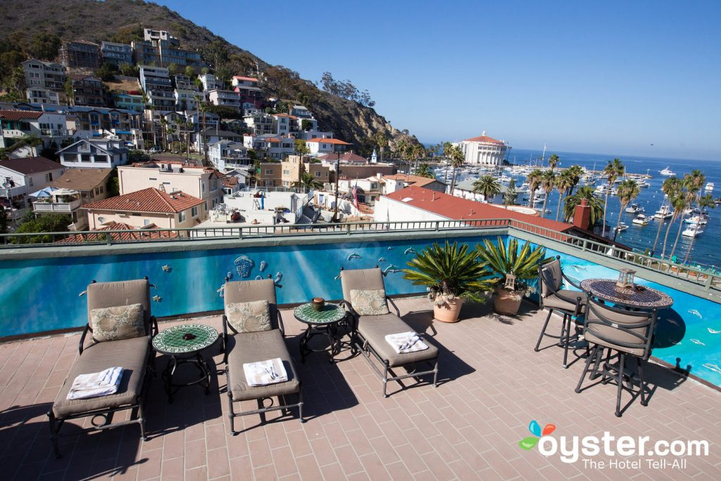Rooftop Deck at The Avalon Hotel on Catalina Island/Oyster